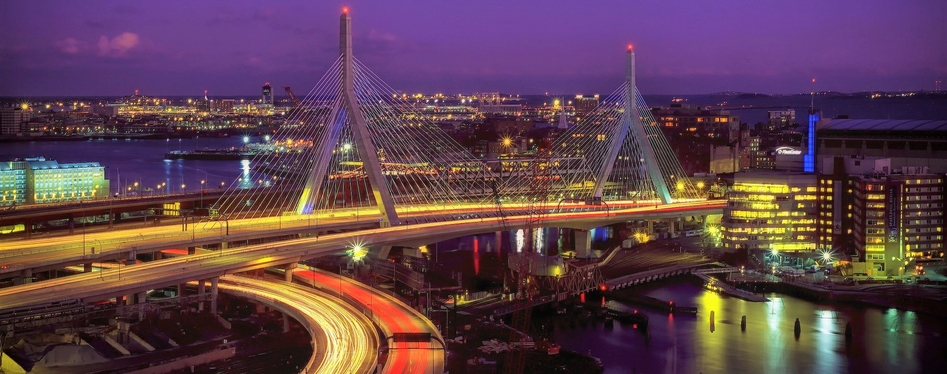 The Leonard P. Zakim Bunker Hill Memorial Bridge located in Boston Massachusetts | Kids Car Donations