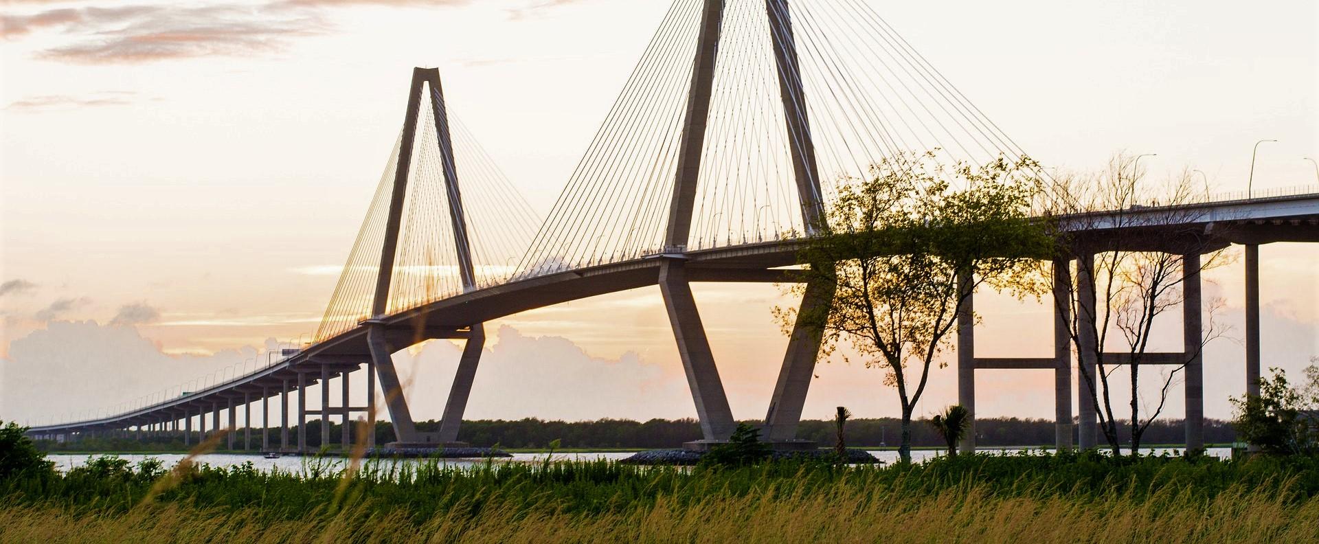 The 4,023 meter-long Charleston Bridge in South Carolina | Kids Car Donations