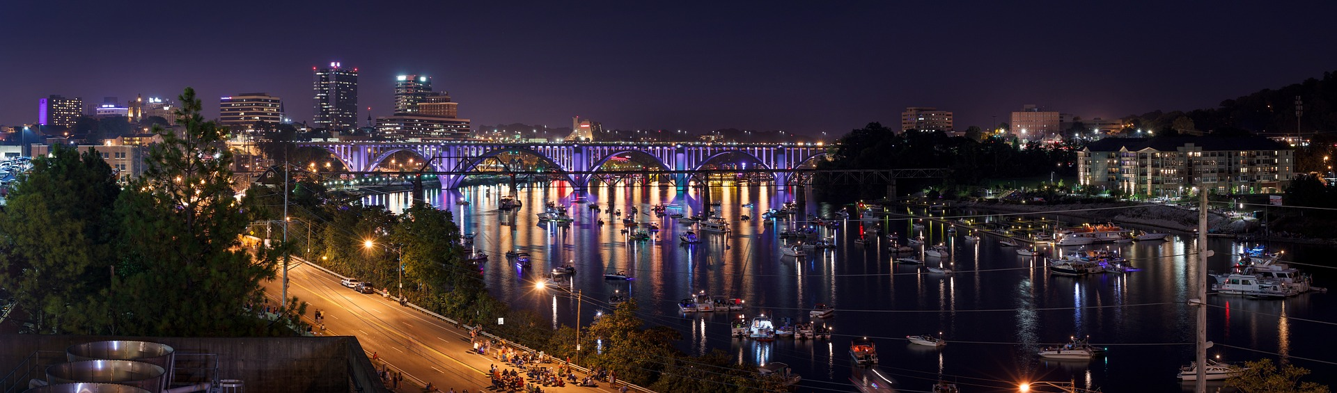 A View of Knoxville Tennessee at Night | Kids Car Donations