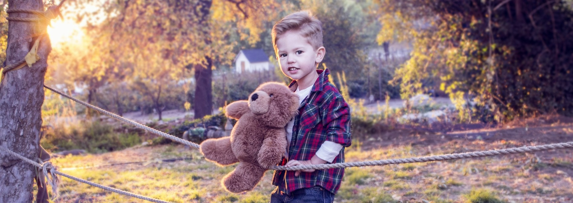 Little Boy with his Teddy Bear in Oregon | Kids Car Donations