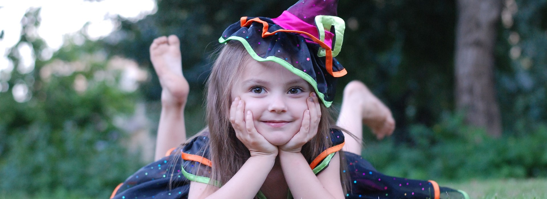 Little Girl on a Witch Costume in New Jersey | Kids Car Donations