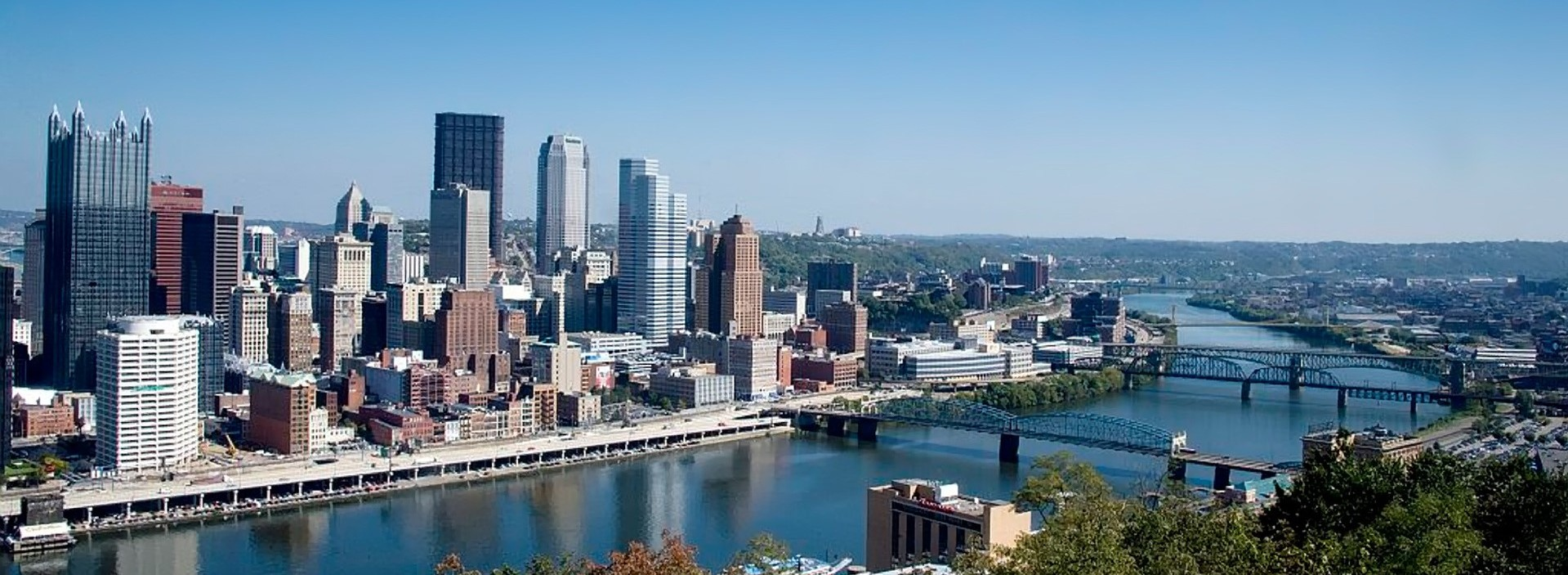 Downtown Pittsburgh, Pennsylvania Skyline View | Kids Car Donations
