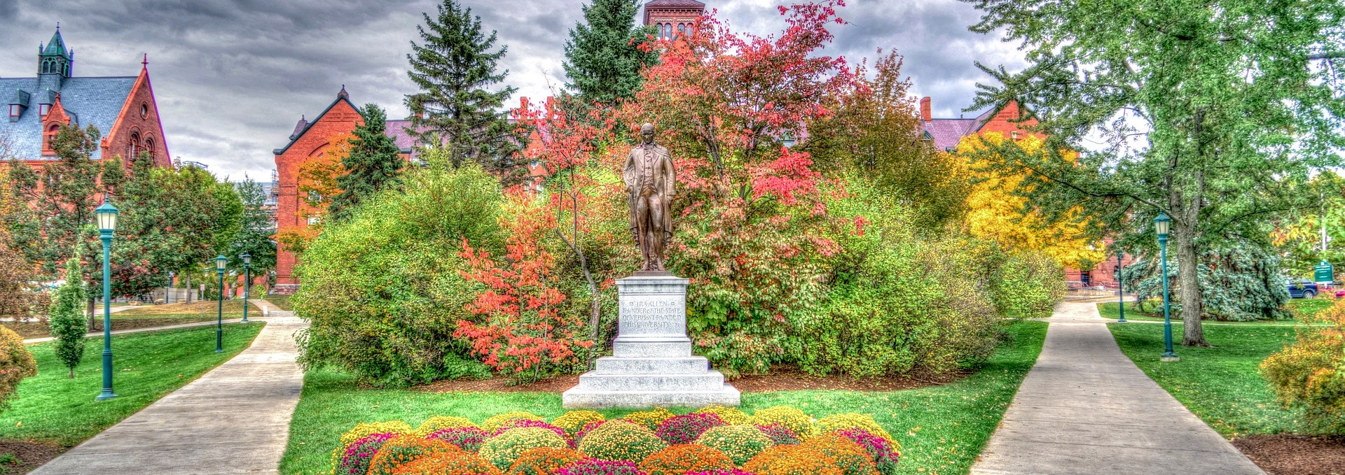 One of the Gardens inside the 227 year-old University of Vermont | Kids Car Donations