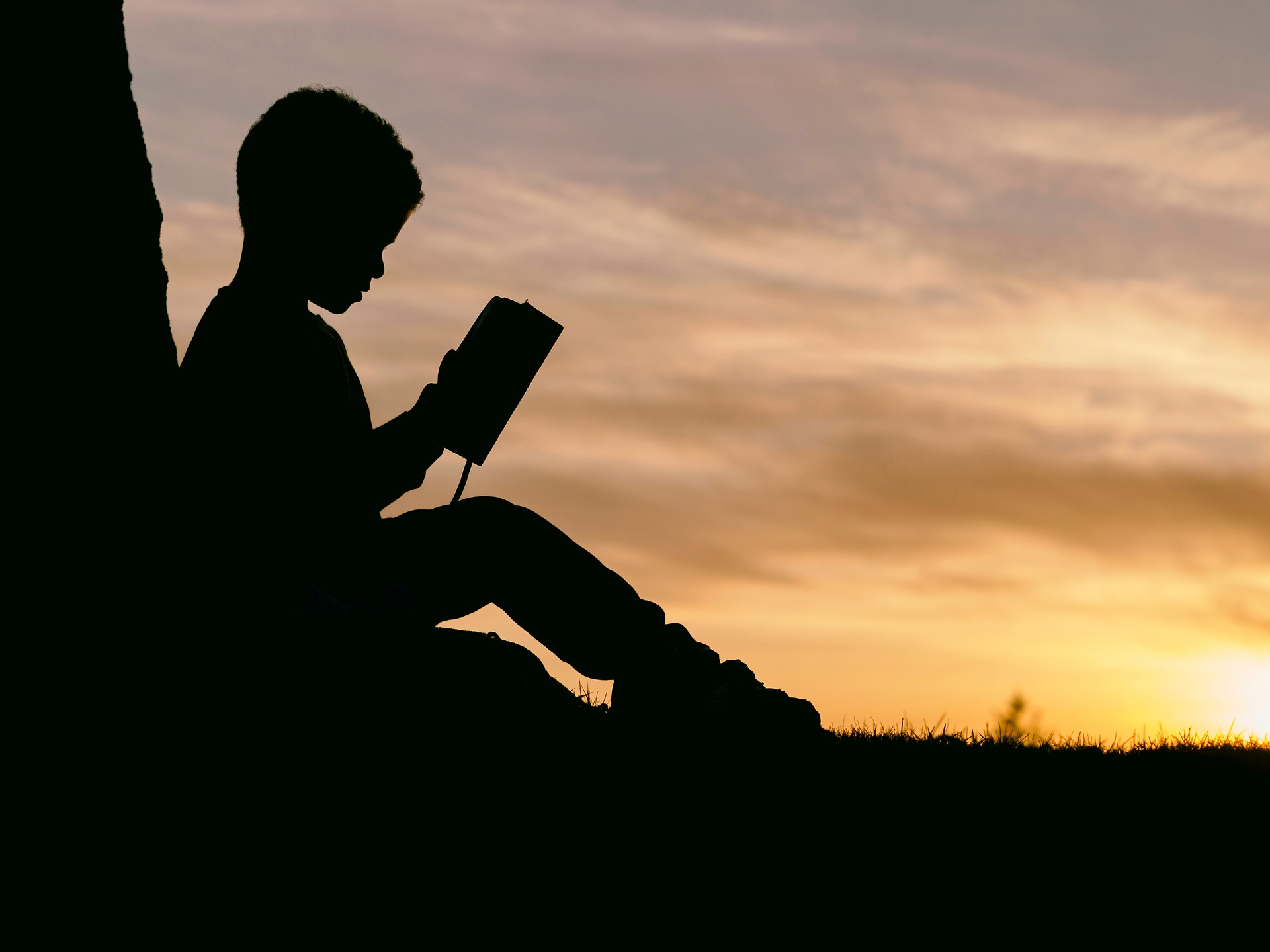 Kid Reading under the Sunset | Kids Car Donations