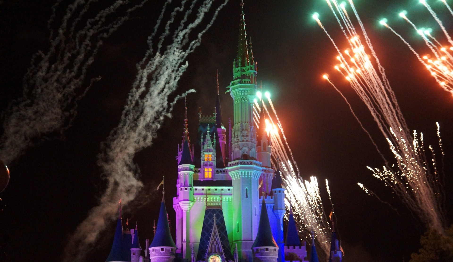 Fireworks Display on a Themed Park | Kids Car Donations