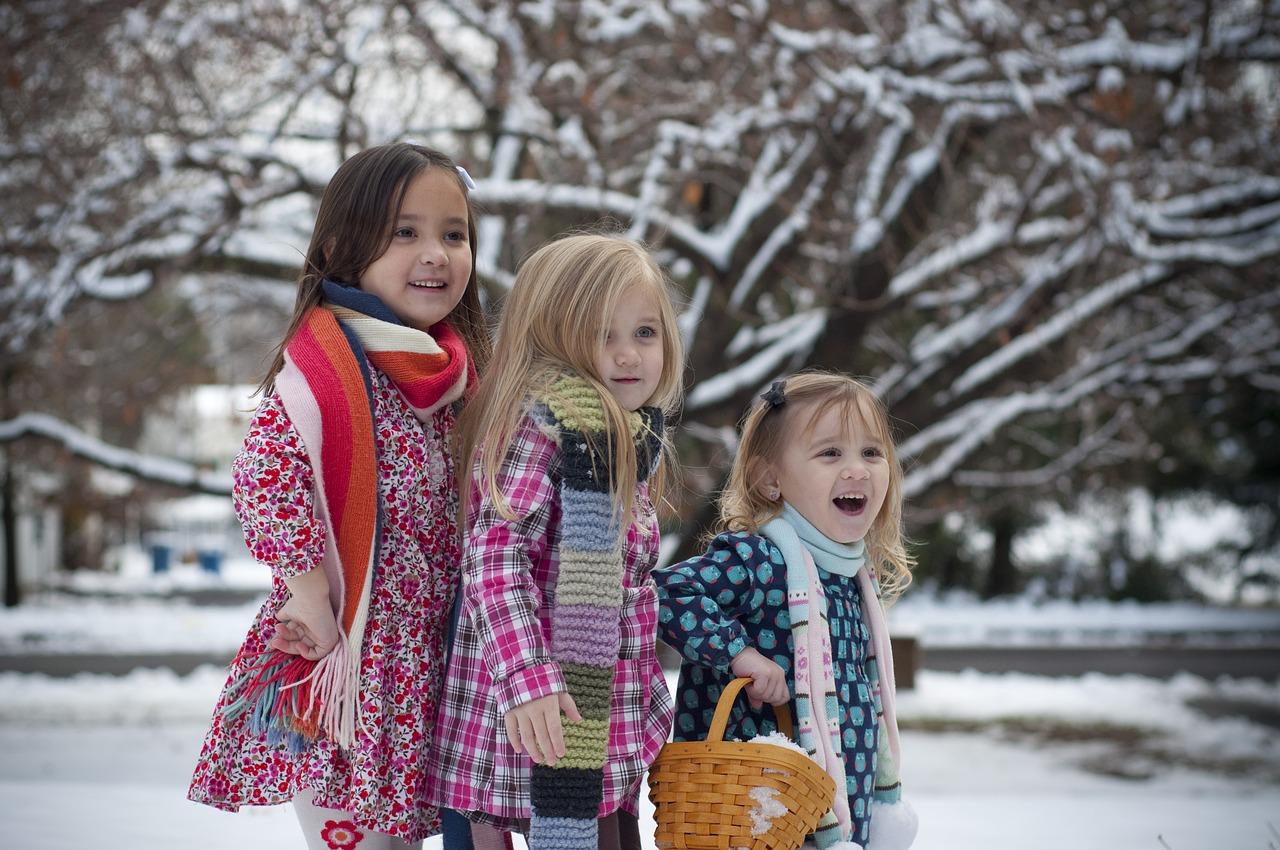 Little Sisters on Winter