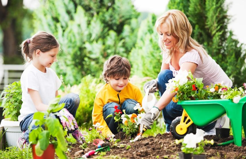 Mother and Kids Gardening | Kids Car Donations