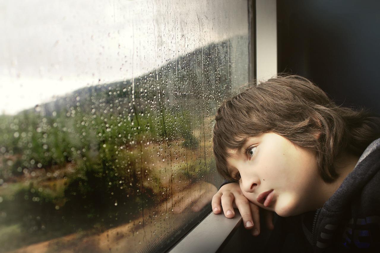 Sad Kid in a Train | Kids Car Donations