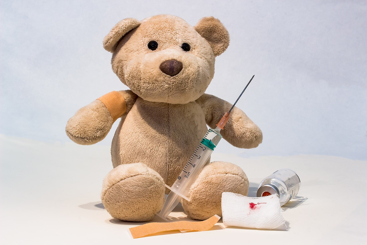 Teddy Bear and a Vaccine Syringe | Kids Car Donations