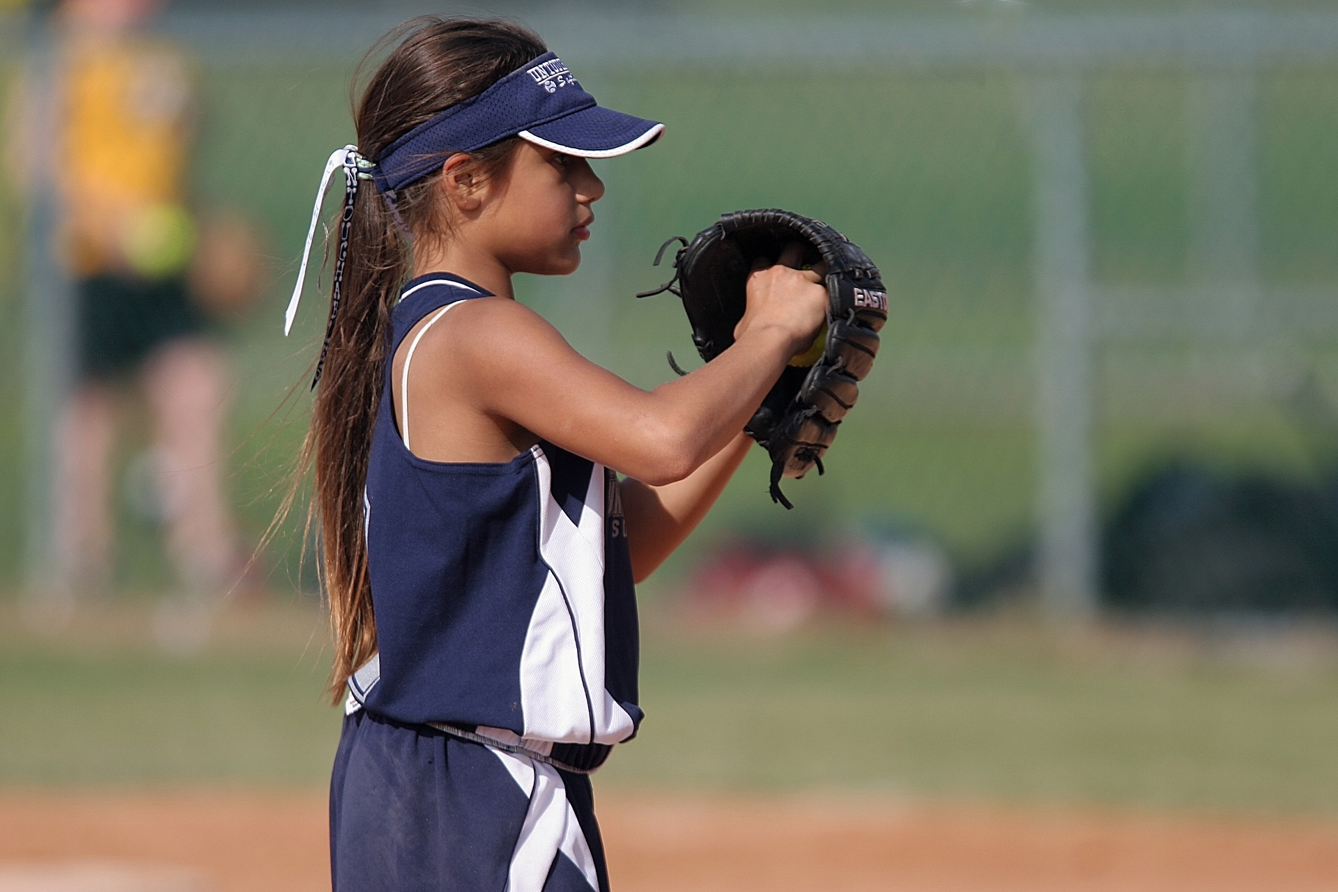 Young Girl Baseball Pitcher   Kids Car Donations
