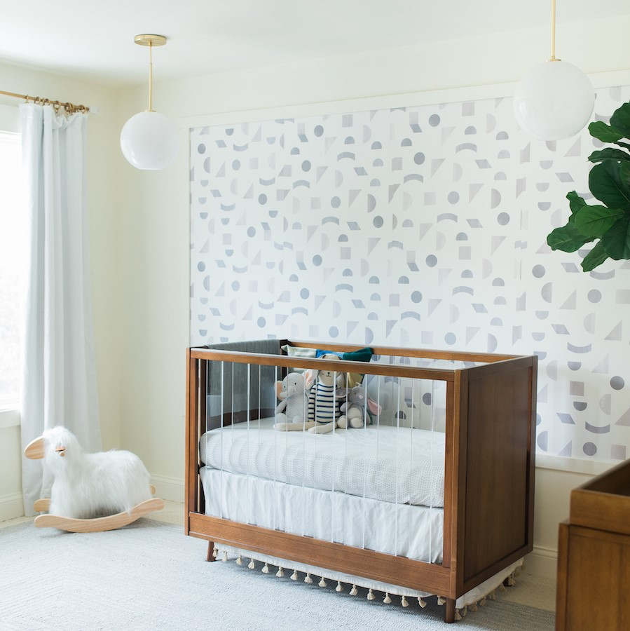 Geometric Walls Nursery Design | Kids Car Donations