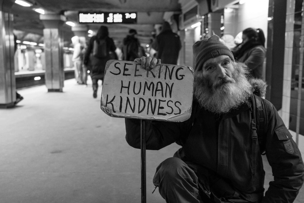 Homeless Man Seeking Kindness in the Streets | Kids Car Donations