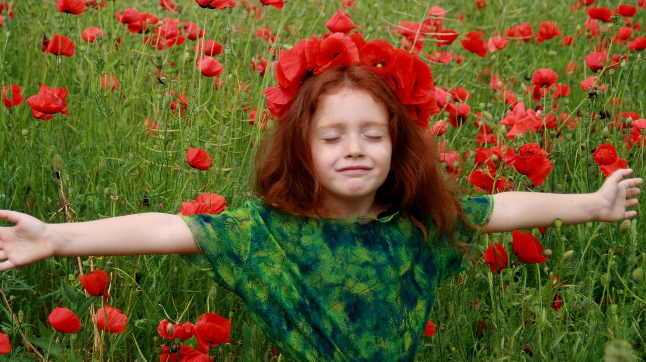 Kid in a Red Poppies Field | Kids Car Donations