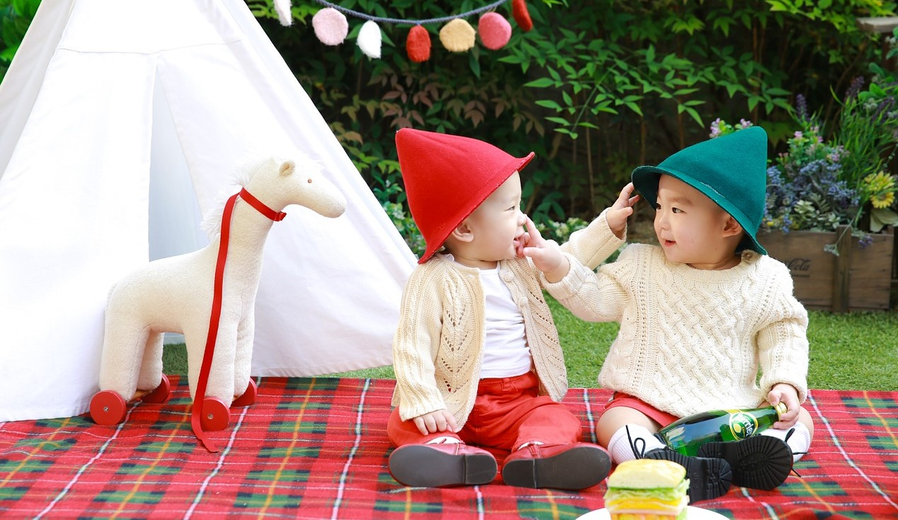Twins Having Picnic | Kids Car Donations