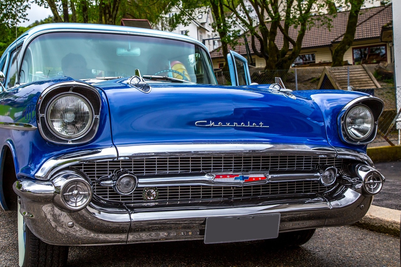 Blue Oldtimer Chevy | Kids Car Donations