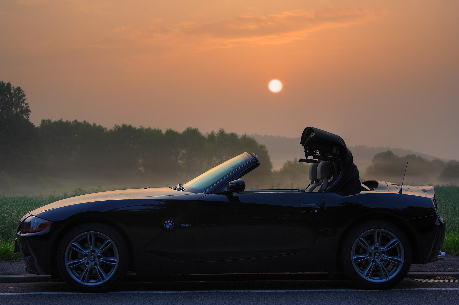 Convertible BMW at Sunset | Kids Car Donations