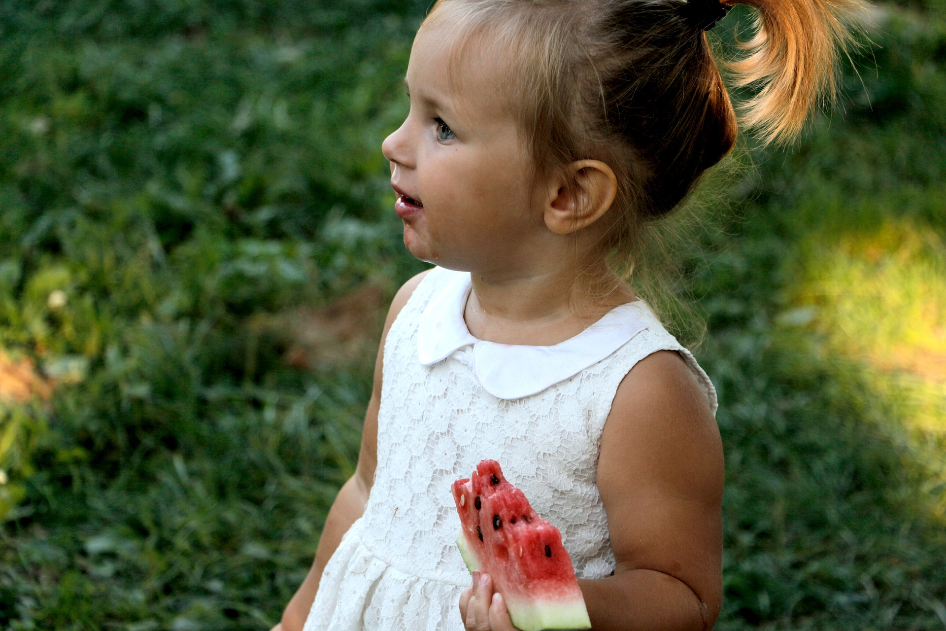 Little Girl Eating a Watermelon | Kids Car Donations