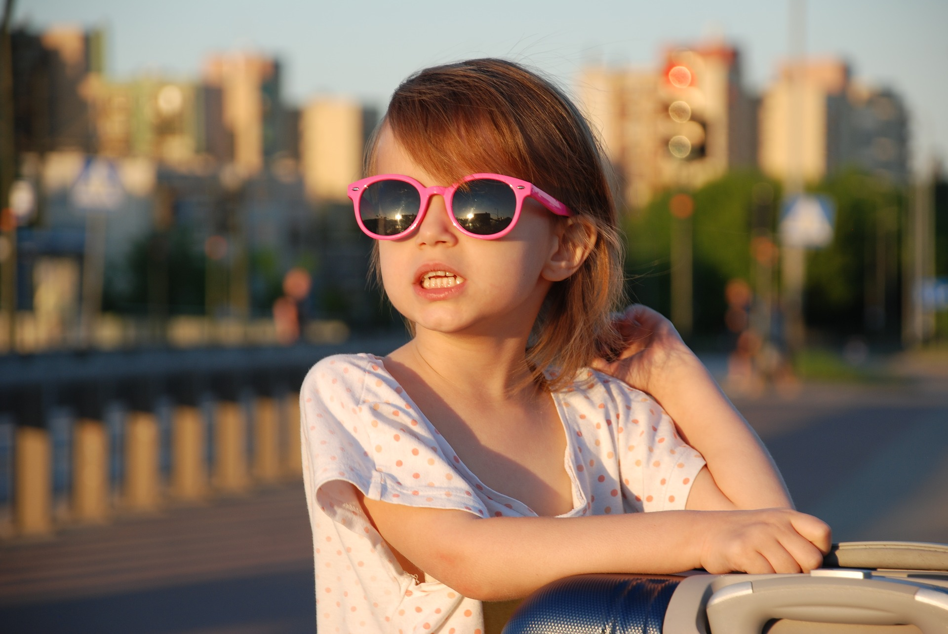 Little Girl on Sunglasses | Kids Car Donations
