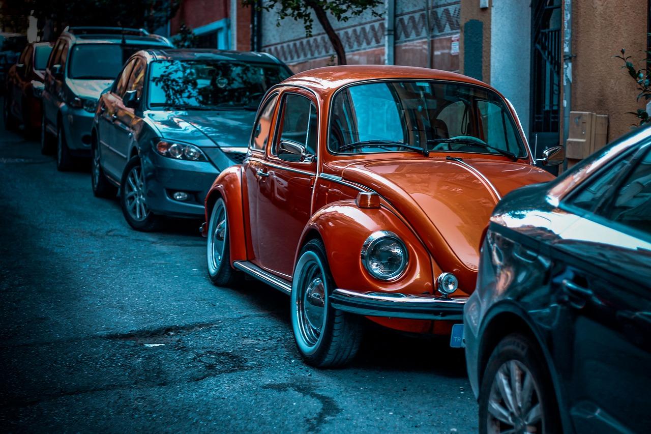 Parked Oldtimer Beetle | Kids Car Donations