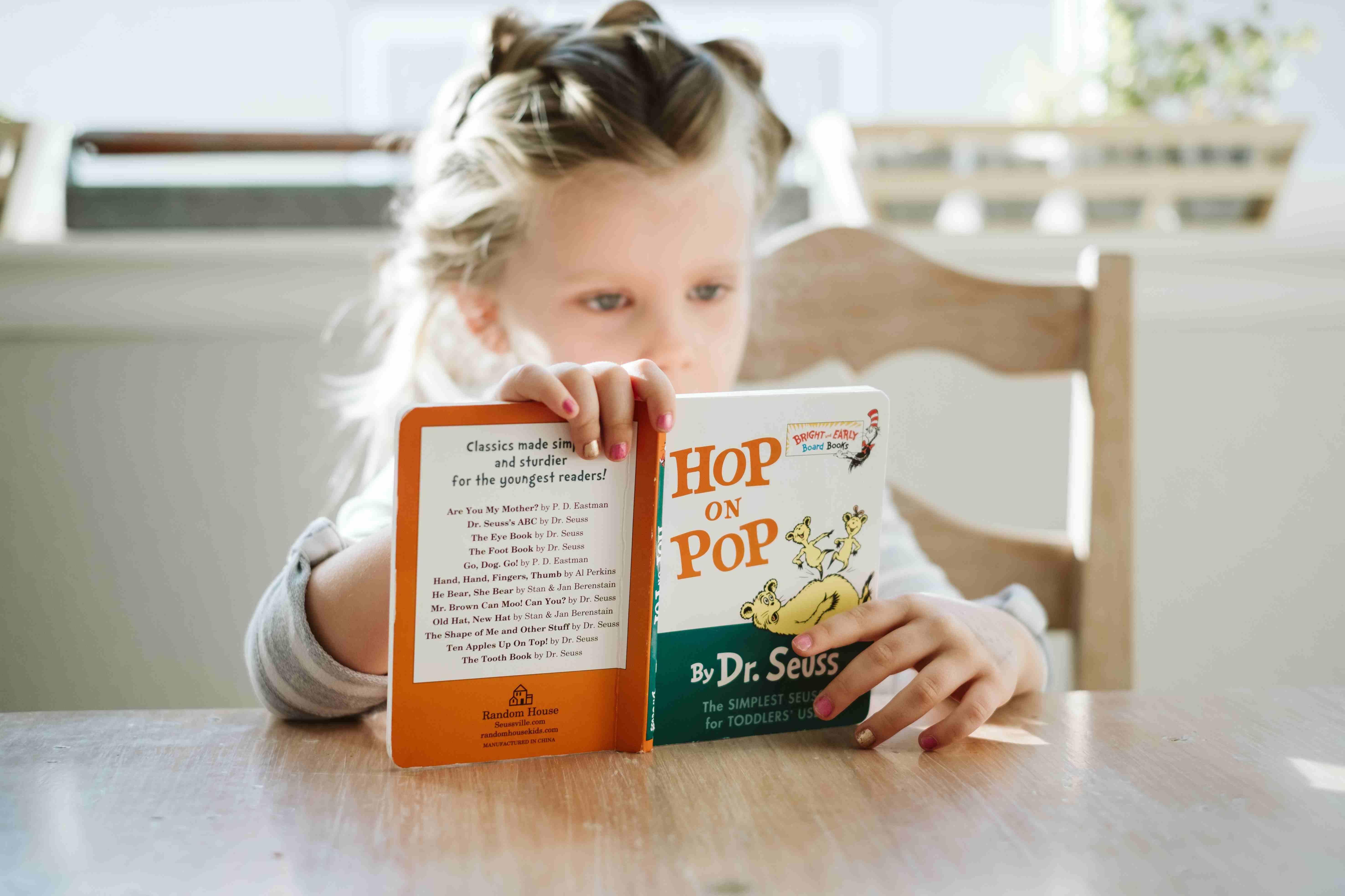 Little Girl Reading a Book | Kids Car Donations