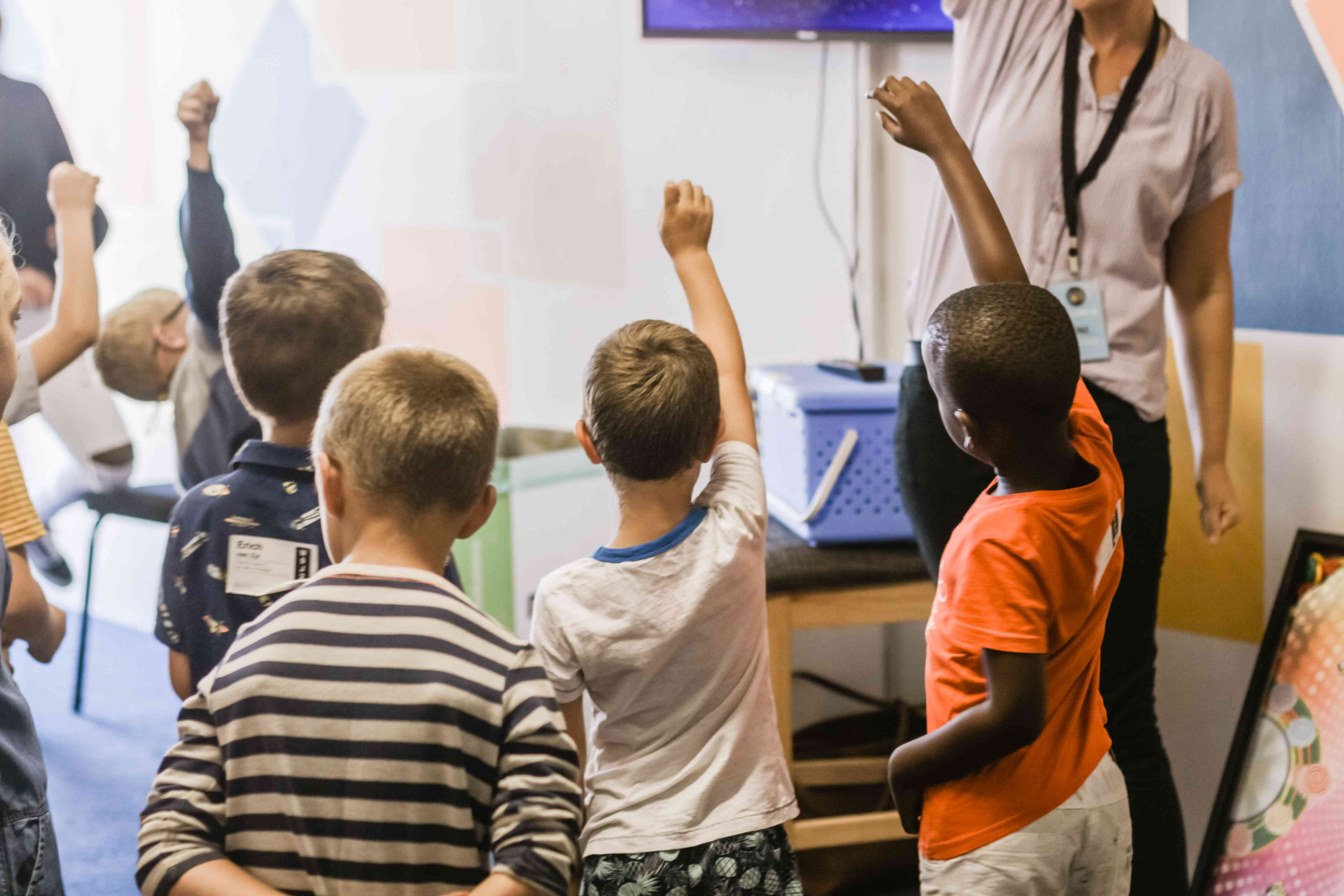 Teacher and Kids on a Class | Kids Car Donations