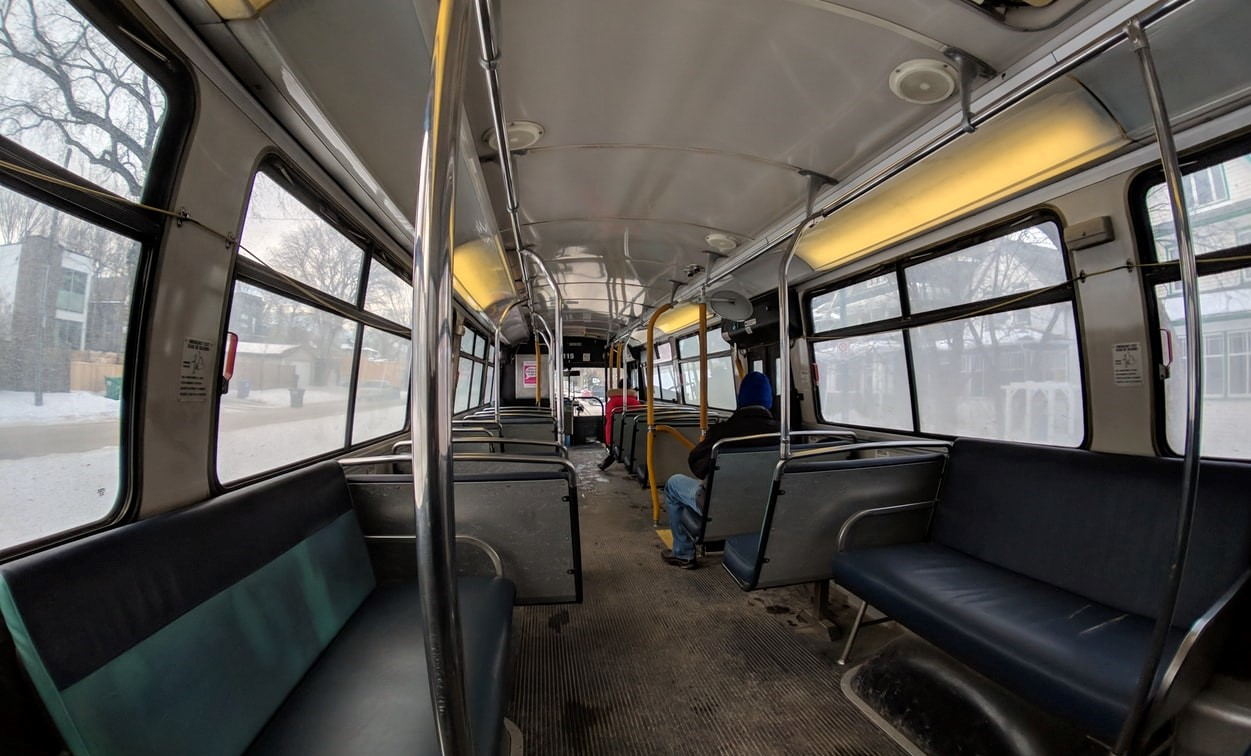 Interior of an Oldtimer Bus | Kids Car Donations
