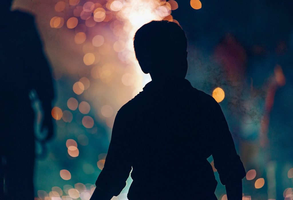 Little Boy Watching Fireworks | Kids Car Donations