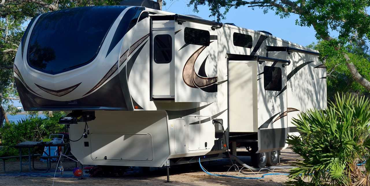 Parked 5th Wheel Camper Outdoors | Kids Car Donations