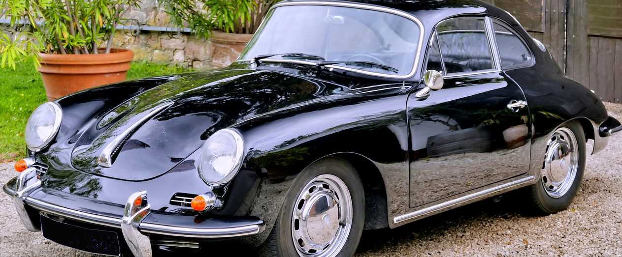 Black Oldtimer Porsche | Kids Car Donations