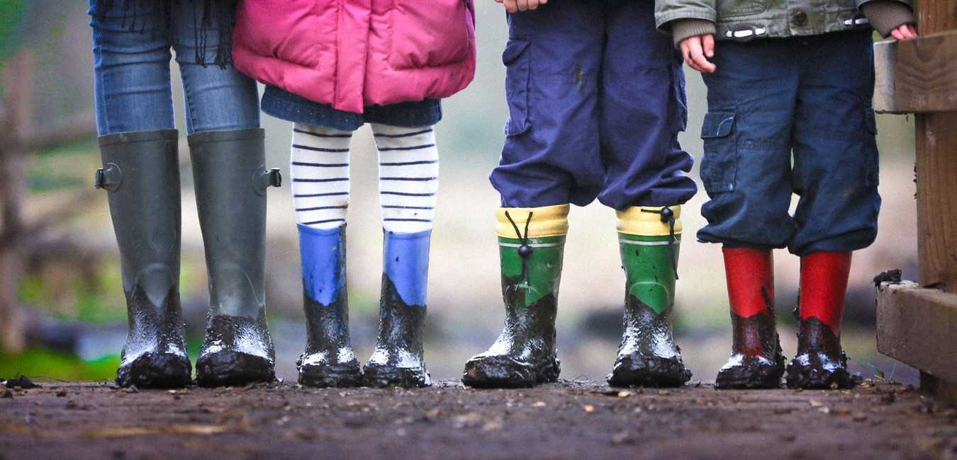 Kids Muddy Boots from an Outdoor Activity | Kids Car Donations