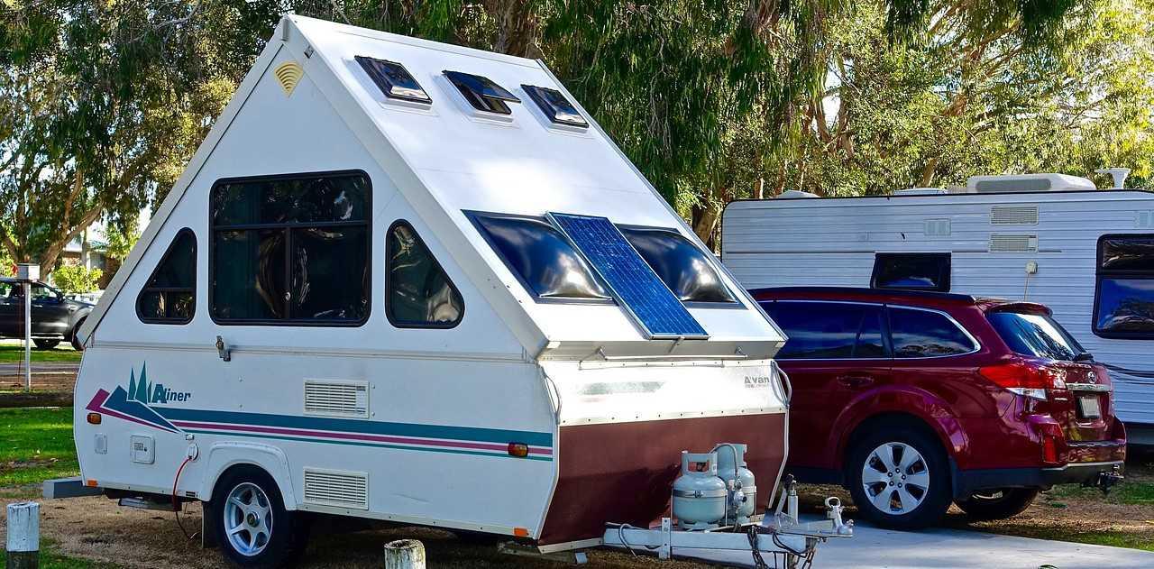 Parked Teardrop Camper | Kids Car Donations