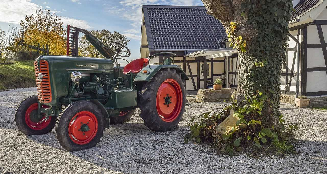 Parked Tractor on a Household Yard | Kids Car Donations