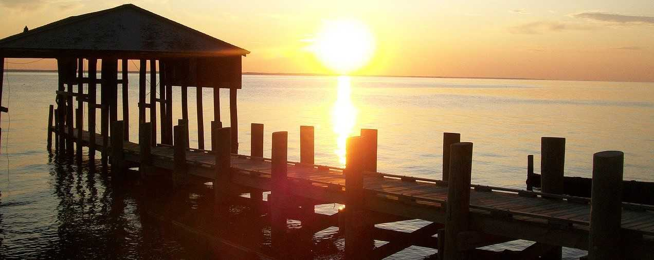 Sunset by the Dock in Chesapeake, Virginia | Kids Car Donations