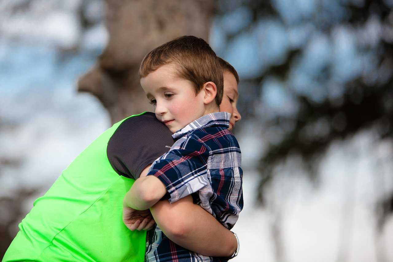 Brothers Hugging Each Other | Kids Car Donations