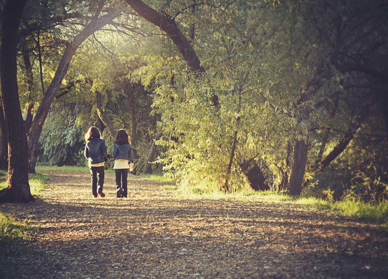 Kids Walking on a Park Path | Kids Car Donations
