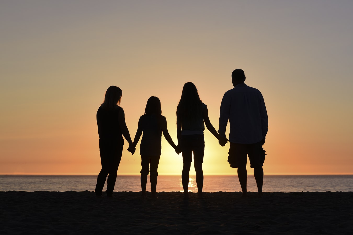 Family Looking at the Sunset | Kids Car Donations