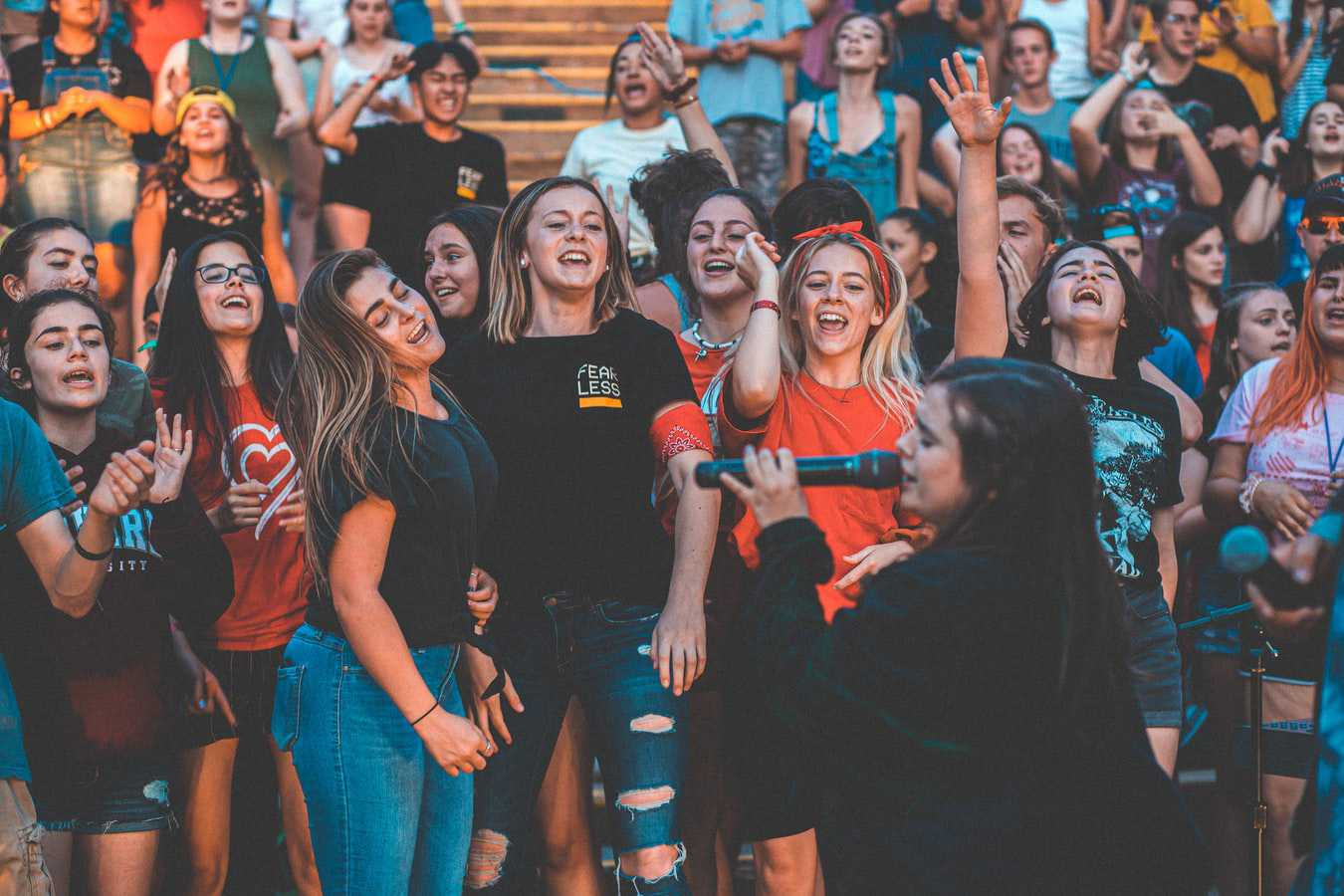 Teenagers Singing at a Summer Camp   Kids Car Donations