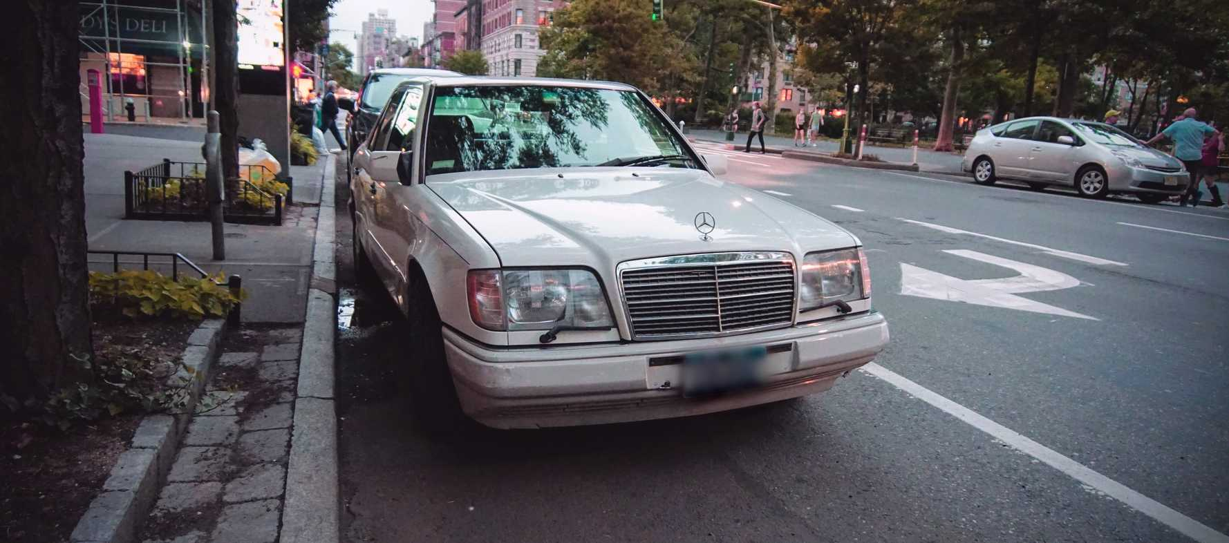 Parked Old Car in New York City   Kids Car Donations