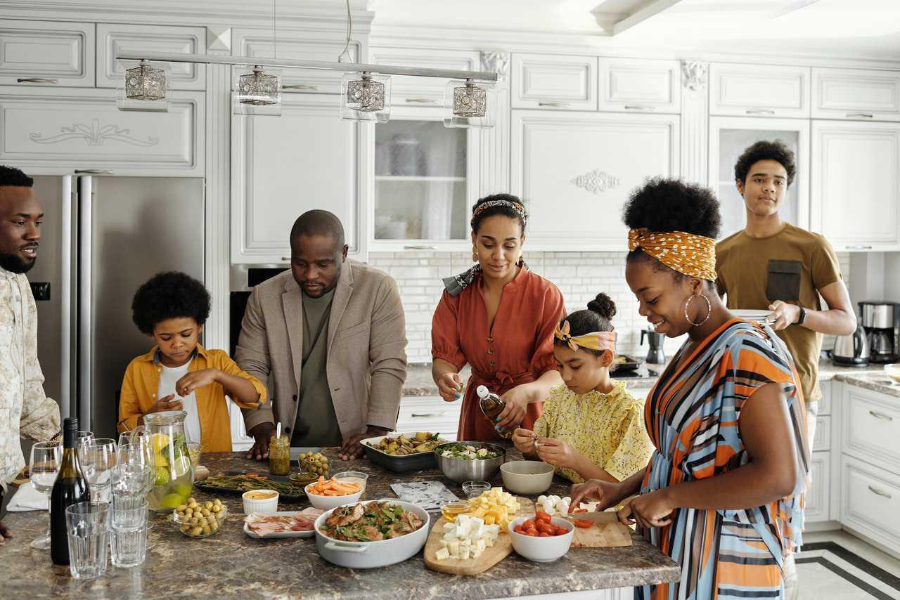Family Preparing Food | Kids Car Donations