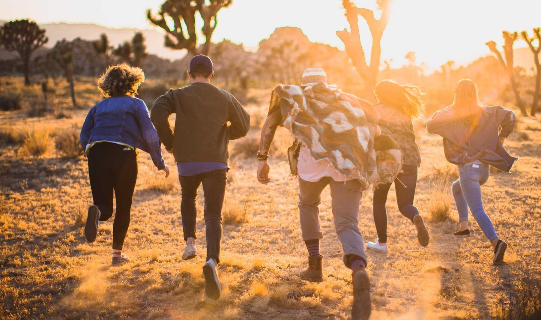 Teenagers Enjoying the Sunset | Kids Car Donations