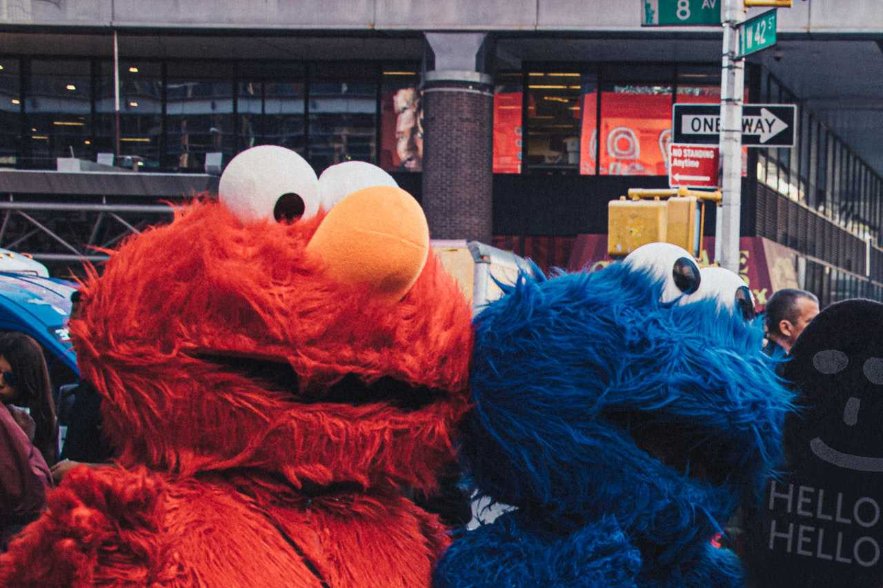 Elmo and Cookie Monster Mascots | Kids Car Donations