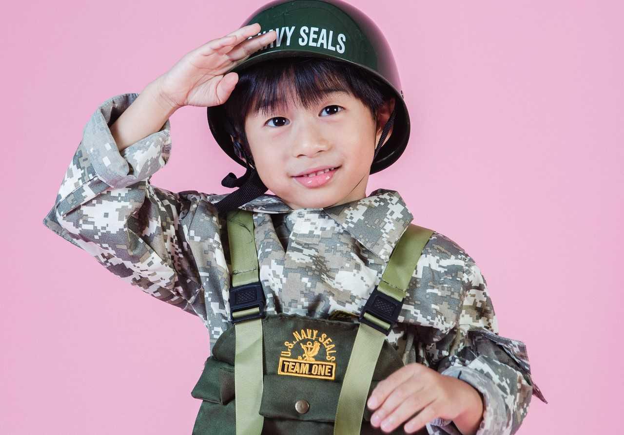 Kid Wearing US Navy Seals Costume   Kids Car Donations
