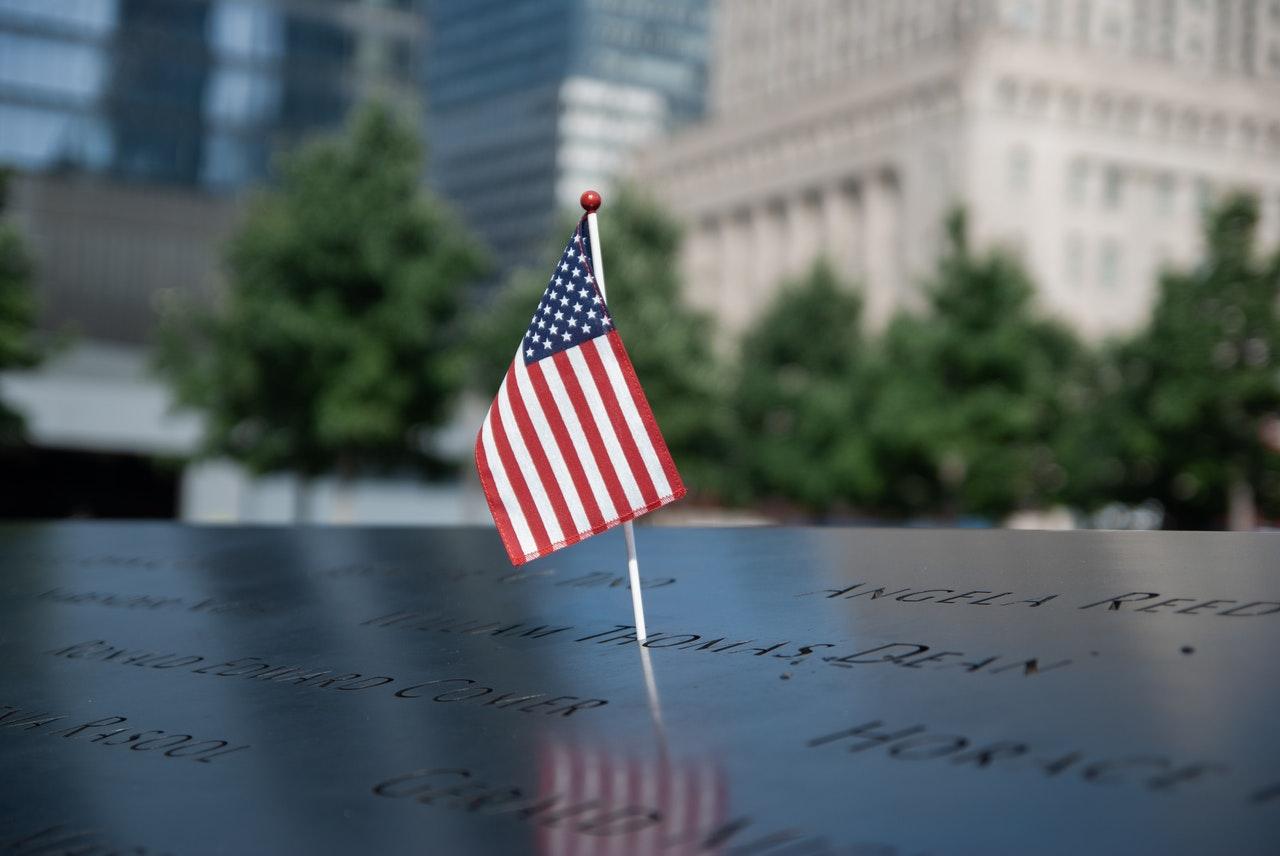 American Flag on 911 Memorial | Kids Car Donations